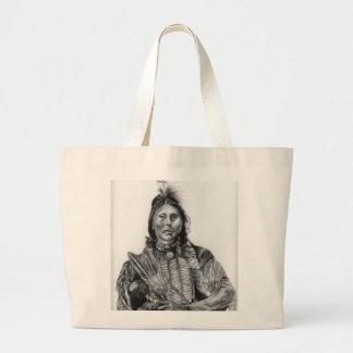 Two Hatchet, Kiowa Large Tote Bag