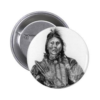 Two Hatchet, Kiowa Pinback Button