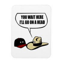 Two Hats Magnet
