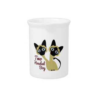Two Headed Boy Beverage Pitcher