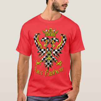 Two Headed Crowned Auto Racing Eagle T-Shirt