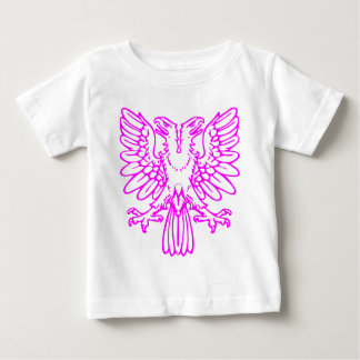 Two Headed Eagle - Magenta Baby T-Shirt
