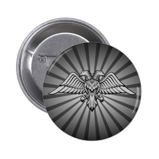 Two headed eagle pinback button