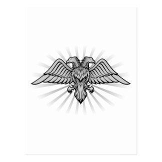Two headed eagle postcard