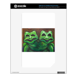 Two-headed Frog (animal symbolism) Decals For NOOK Color