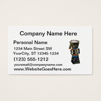 Two Headed Hand Drum Tribal version graphic Business Card