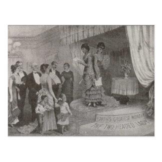 Two-Headed Lady Postcard