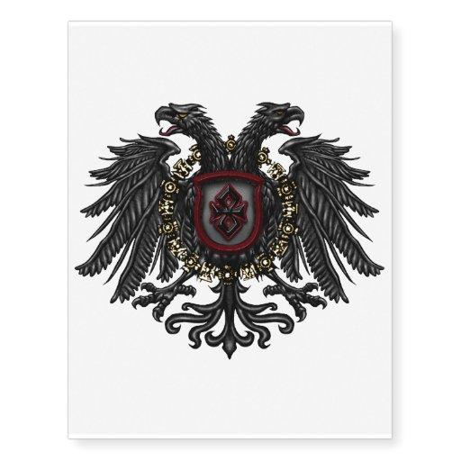 Two Headed Phoenix Crest 198 Nigma Graphic Design Temporary Tattoos Zazzle