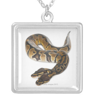 Two headed Royal Python or Ball Python - Python Silver Plated Necklace