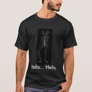 two headed skeleton, Hello... Hello. T-Shirt