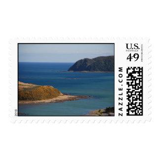 Two Headlands At Porirua Harbour Entrance Stamp
