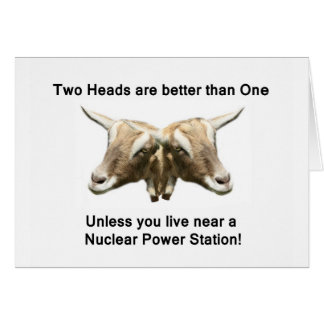 Two Heads Anti-Nuclear Logo Card