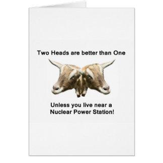 Two Heads Anti-Nuclear Logo Card