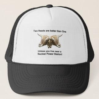 Two Heads Anti-Nuclear Logo Trucker Hat