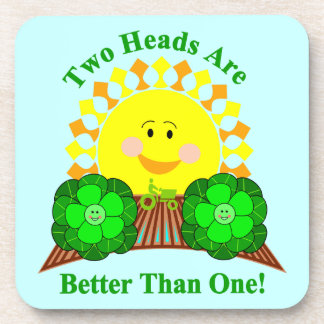 Two Heads Are Better Than One Coaster