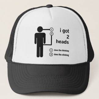 Two Heads Are Better Than One Trucker Hat