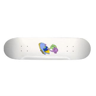 Two heads on a roller coaster custom skateboard