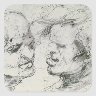 Two Heads Square Sticker