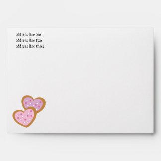 Two Heart Cookies Envelope