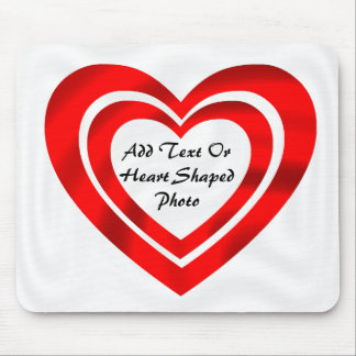 TWO HEART FRAME-MOUSEPAD MOUSE PAD