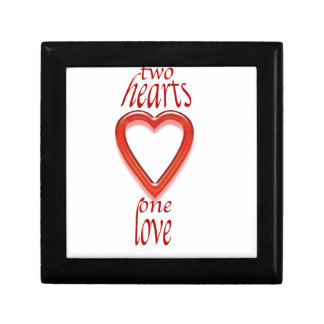 two heart s one love jewelry box