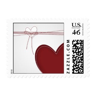 Two heart stamps
