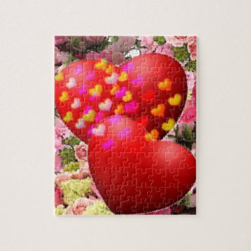 Two hearths in love jigsaw puzzle