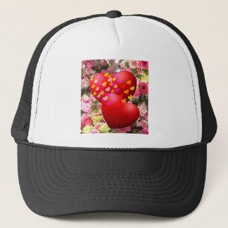 Two hearths in love trucker hat