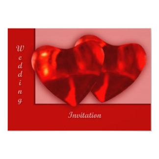 Two Hearts 5x7 Paper Invitation Card