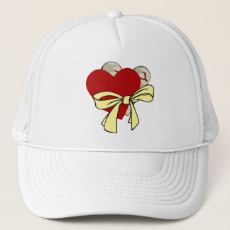 Two hearts and yellow ribbon trucker hat