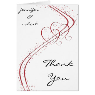 Two Hearts as One Thank You card