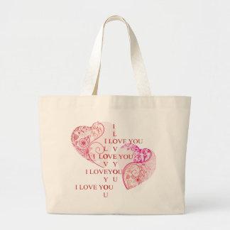 Two Hearts Jumbo Tote Bag