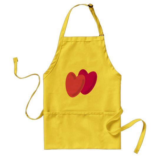Two hearts beat as one adult apron