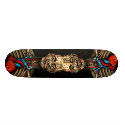 Two hearts beat as one custom skateboard