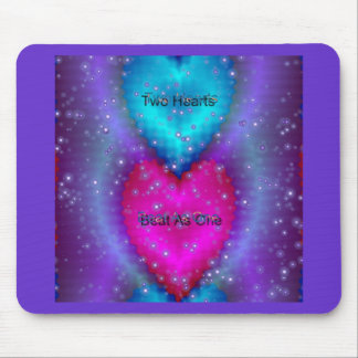Two Hearts Beat As One Mouse Pad