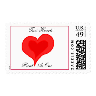 TWO HEARTS BEAT AS ONE - postage stamps
