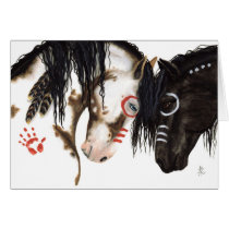 Two Hearts beat as One Valentine Horses by Bihrle Card