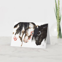 Two Hearts beat as One Valentine Horses by Bihrle Holiday Card