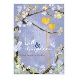 Two Hearts Boho Style Wedding Rehearsal Dinner 5x7 Paper Invitation Card