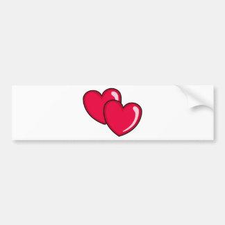 Two Hearts Bumper Sticker