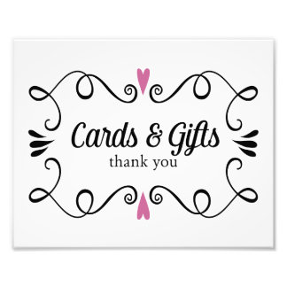 Two Hearts Cards and Gifts Wedding Sign Photo Print