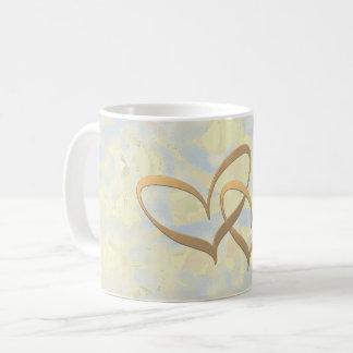 Two hearts coffee mug