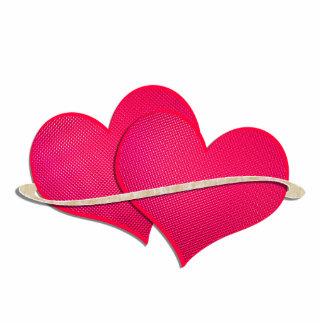 Two hearts cutout
