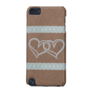Two Hearts Dainty Lace Pattern Speck iPod Case iPod Touch (5th Generation) Covers