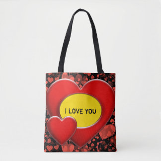 Two Hearts Frame + your backgr. & ideas Tote Bag