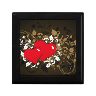 two hearts jewelry box