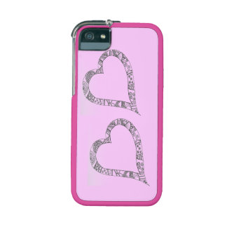 Two Hearts Graft iPhone 5/5S Case, Neon Pink