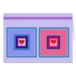 Two Hearts in Frames Card