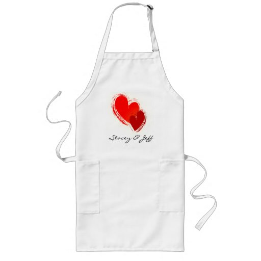 Two hearts in love aprons