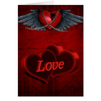Two Hearts In Love Card